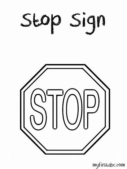 Coloring Stop Sign Printable Pages Sheet Template