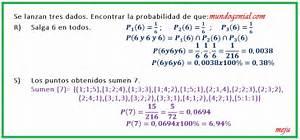 En el experimento de lanzar un dado 2 veces, existe la probabilidad