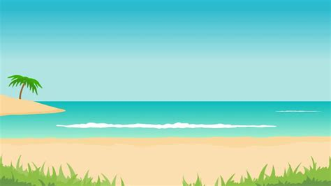 Sea Waves Wallpaper Animated - animation of tropical landscape sea waves palms