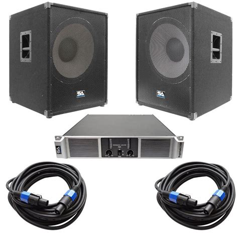 subwoofer bass cabinet  watts rms    cab   woofer  subs power