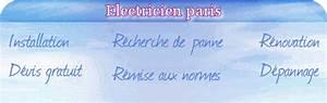Electricien Paris 16eme : lectricien paris 16eme 75016 ~ Premium-room.com Idées de Décoration