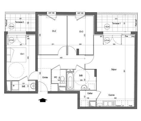 appartement 3 chambres appartement n b25 lumine cens t4 de 80 00 m à nantes nord