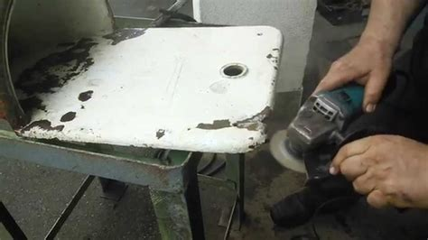 cast iron sink repair how to fix an old cast iron sink youtube