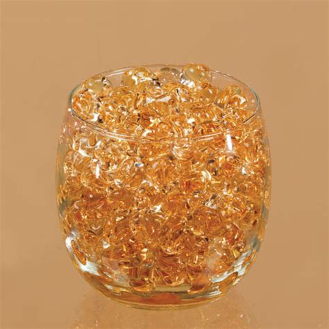 dew drop centerpiece water beads amber gold