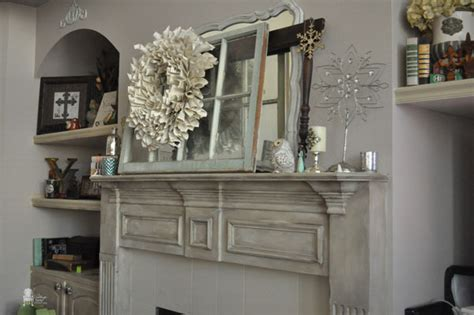 hometalk chalk painted fireplace mantel