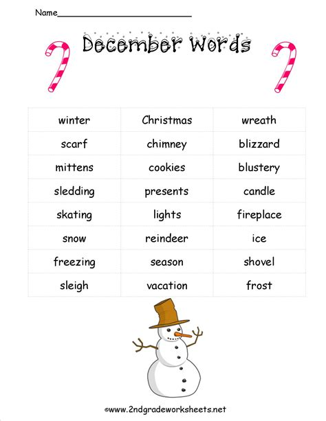 free printable christmas worksheets for 2nd grade