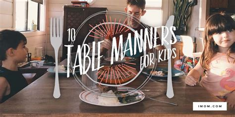 teaching kids manners  table manners printable imom