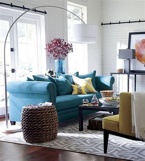 Gray, Teal And Yellow Color Scheme Decor Inspiration