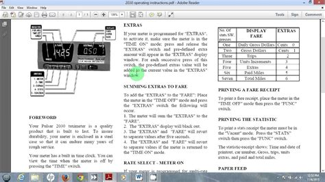 Pulsar Taxi Meter Instructions For San Antonio