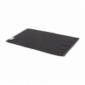 bobble tapis de bain anthracite tissu habitat With tapis de bain gris anthracite