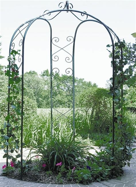 Value Garden Arch by New Metal 3 Sided Garden Patio Yard Arbor Gazebo Arch