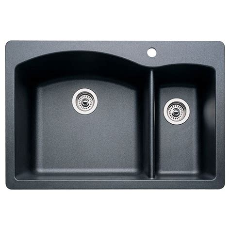 blanco kitchen sinks drop in blanco 440199 1 1 2 bowl drop in silgranit ii