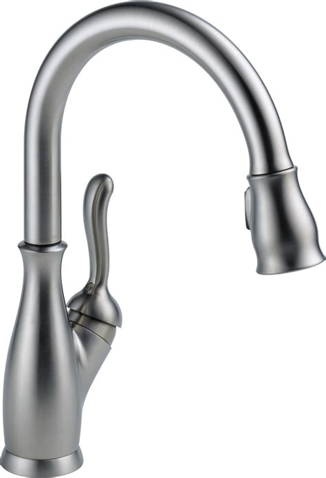 pull kitchen faucet delta faucet 9178 rb dst leland single handle pull