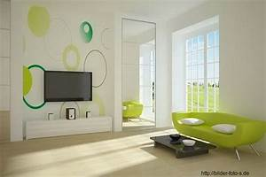Wohnzimmer Wandgestaltung Farbe : ideen f r wandgestaltung mit farbe ~ Markanthonyermac.com Haus und Dekorationen