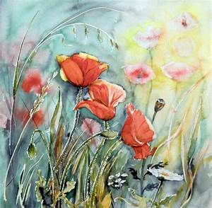 Aquarell Malen Blumen : mohn aquarell blumen malen pinterest ~ Articles-book.com Haus und Dekorationen