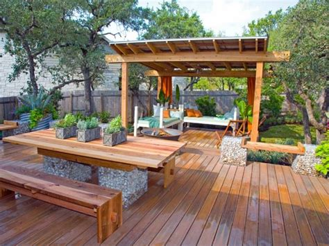 Terrasse De Jardin En Bois- Idées D'aménagement Et Photos