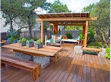 Terrasse de jardin en bois idées d'aménagement et photos