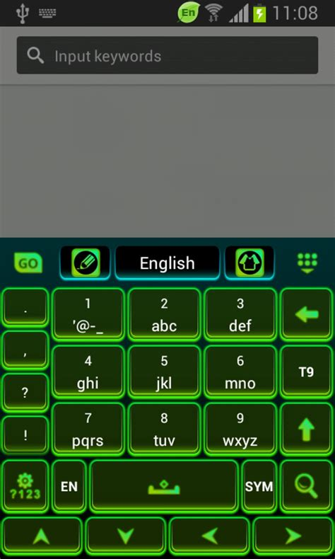 color keyboard free color keyboard neon green free for android