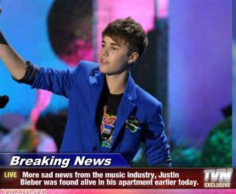 More Sad News From The Music Industry, Justin