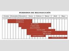Periodos de recolección de cítricos Agromática