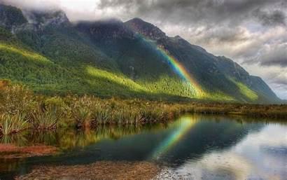 Wallpapers Rainbow Pc Rainbows Desktop Backgrounds Nature