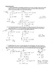horizontal projectile motion worksheet projectile motion worksheet ii solutions general launch ws ll 1 the