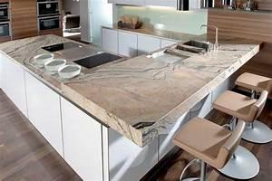 Stein Arbeitsplatte Küche : arbeitsplatte kuche holz oder granit ~ Orissabook.com Haus und Dekorationen