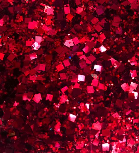 Red Face Glitter