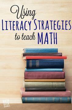 literacy strategies  teach math  images