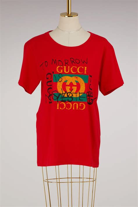 Lyst - Gucci Fake T-shirt in Red