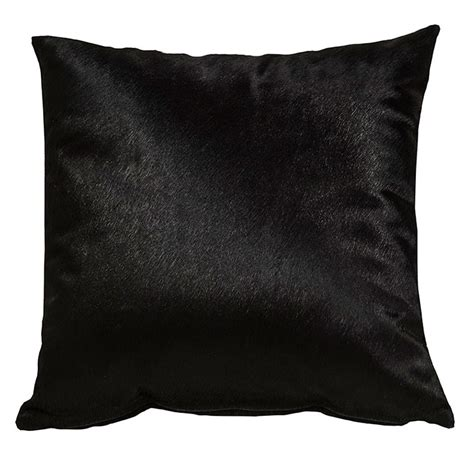 Black Cowhide by Black Cowhide Pillows Moss Manor
