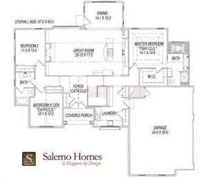 Decorative Ranch Home Open Floor Plans by Floor Plans Of Custom Build Homes From Salerno Homes Llc