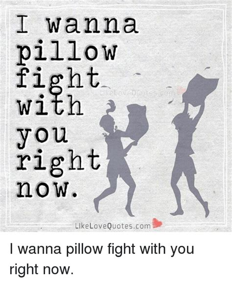 Pillow Fight Meme - i wanna pillow fight with you right no w like love quotescom i wanna pillow fight with you right
