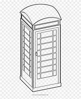Booth Coloring Telefonica Cabina Phone Dibujar Clipart Pikpng Complaint Copyright sketch template