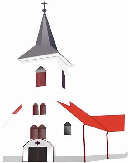 Church Clipart Vector Clip Christian Transparent Svg