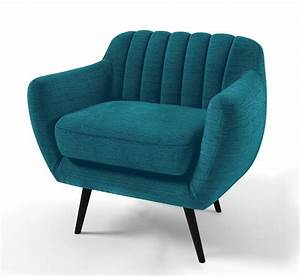 Fauteuil vintage azari en tissu au design scandinave for Soldes fauteuils scandinaves