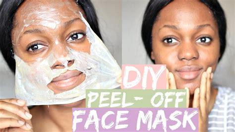 diy gelatin facemask  blackheads oily skin dry skin