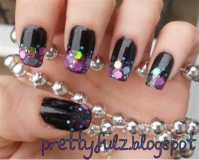 Nail Glitter Designs Shimmer Flakes Nails Prettyfulz