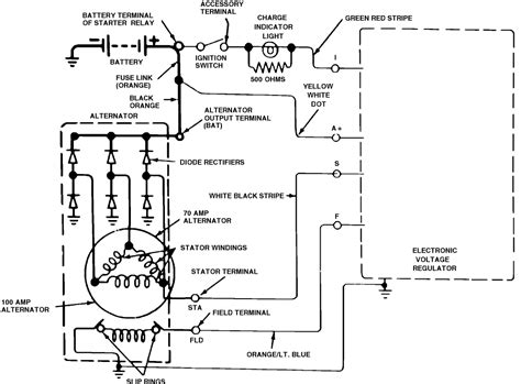 1982 Ford Alternator Wiring Diagram by I Need A Charging System Wiring Diagram For 1982 Ford