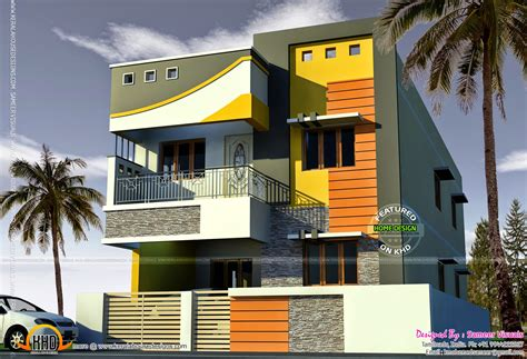 M&s Home Design : 2000 Sq-feet Tamilnadu House