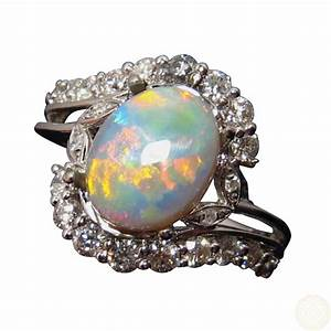 semi black opal and diamond ring for women flashopal With wedding rings gemstones