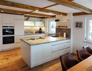 Kuche weiss matt lackiert modern kuche nurnberg von for Küche modern weiss