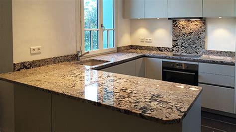marbre cuisine plan travail plan de travail granit marbre et decoration