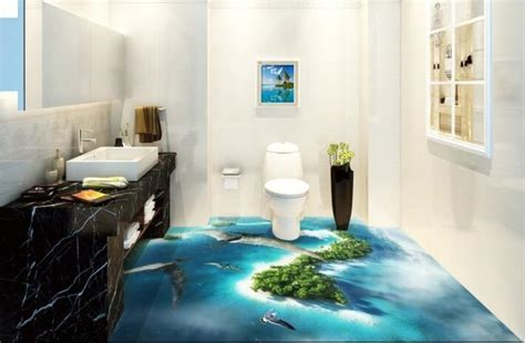 Amazing 3D flooring art, 3D epoxy floor murals installation