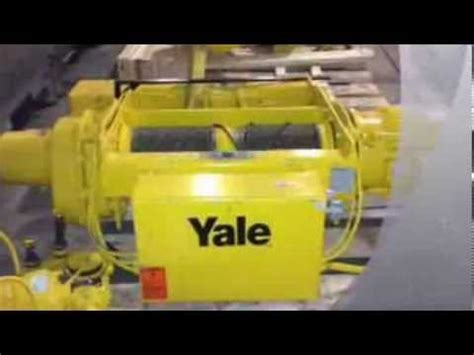 For Sale Ton Yale Electric Wire Rope Hoist Cable King