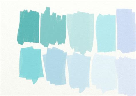 country living blue color swatches paperplaydays blog