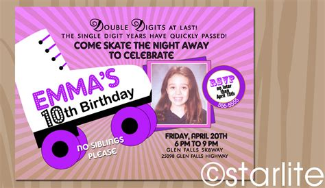 10 Year Old Birthday Invitations DolanPedia