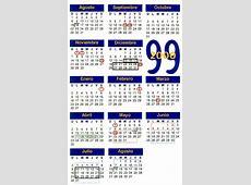 Calendario Escolar Anual 19992000