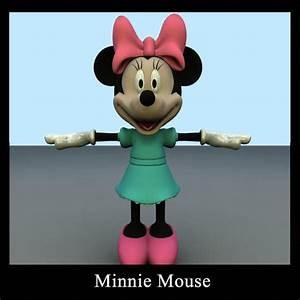 Minnie Mouse Möbel : 3d model minnie mouse cgtrader ~ A.2002-acura-tl-radio.info Haus und Dekorationen