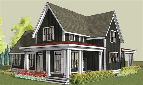 smart placement most economical house design ideas rear simple farmhouse plan wrap around porch building